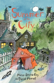 Summer in the City is the third title in the series by Marie-Louise Gay and David Homel, but it's a travel story with a twist — this time Charlie and his family stay home, and find adventure in their own Montreal neighborhood.