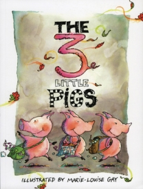 Marie-Louise Gay brings her charmingly wacky style to the familiar tale of the three little pigs.