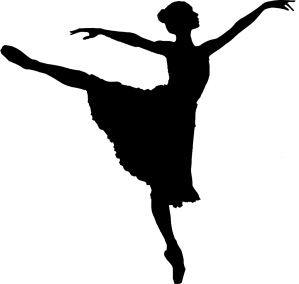 Another ballet clip art and text -  double voila!