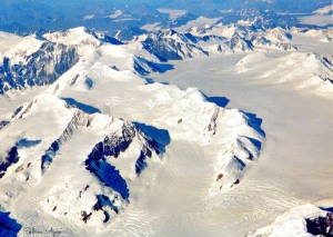 Another photo from Alaska, this time taken from the plane on the way home, cropped and darkened.