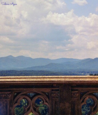 My base photo is of the Blue Ridge Mountains from a balcony at the Biltmore Mansion in Asheville, NC.