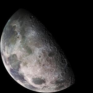 The moon showing it's dark side.
