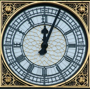 The Clock face on the Tower at the Palace of Westminster from the internet.
