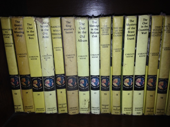 This is part of mom's Nancy Drew collection. She's still working on filling it out.