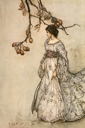 Having no photographs that meet the requirements, I chose and illustration from Romantic Period illustrator, Arthur Rackham