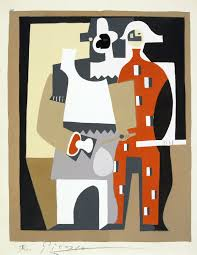 pierrot and harlequin by picasso