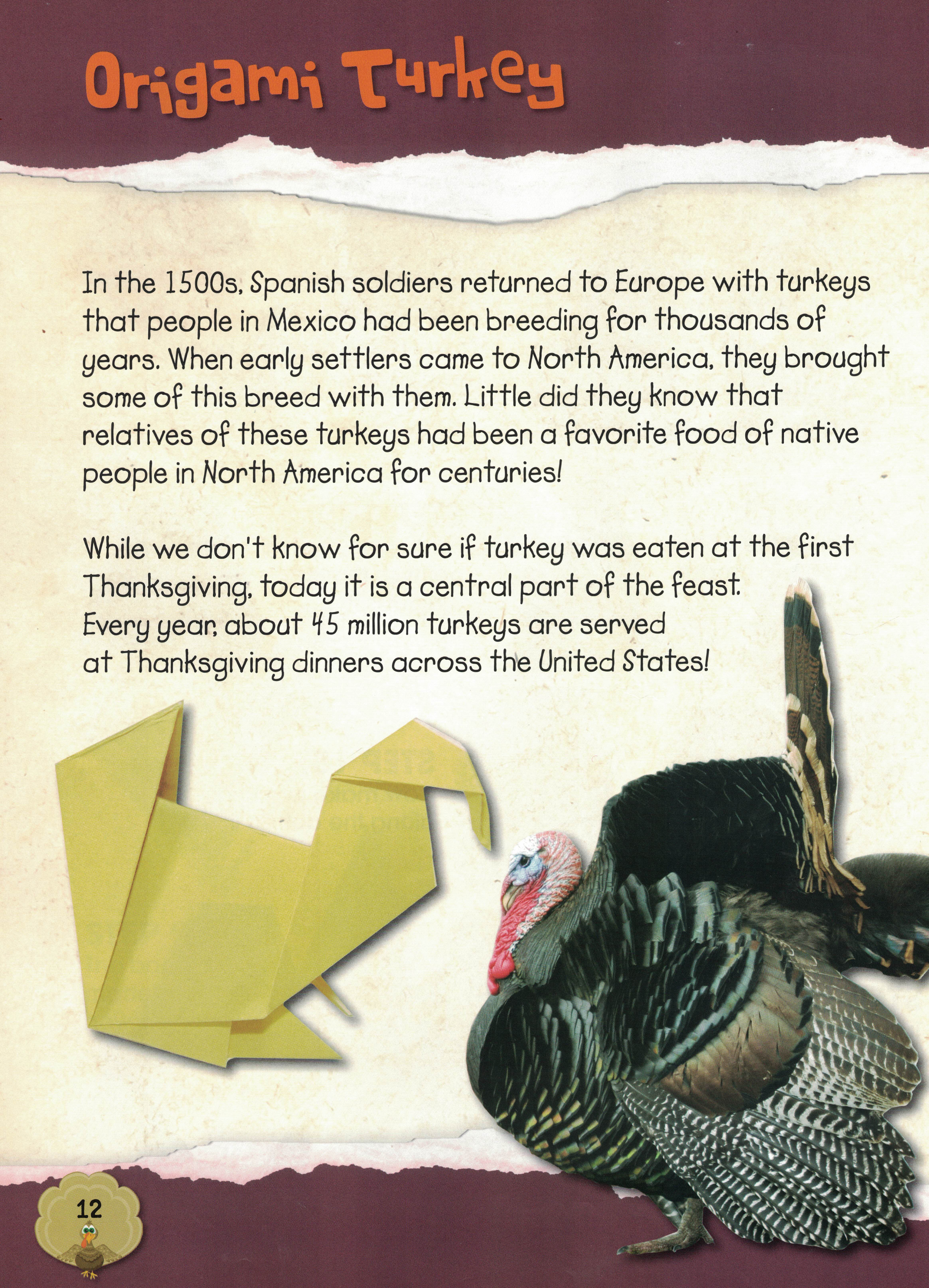 thanksgiving origami � library of cats