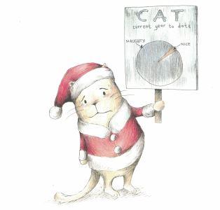 here comes santa cat d