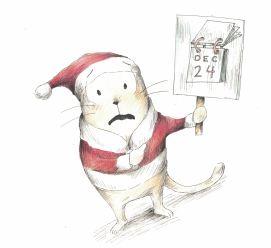 here comes santa cat e